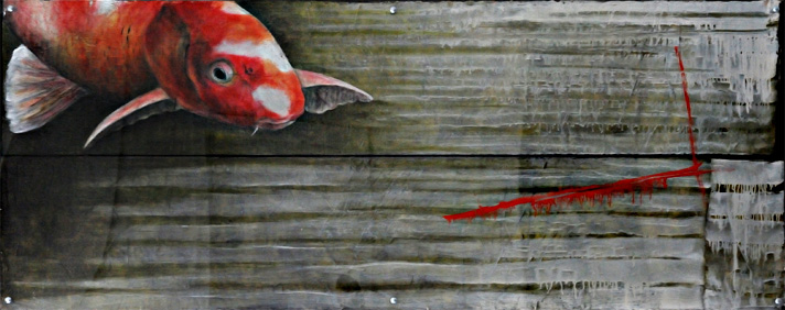 <h1>koi carp</h1>oil on canvas | 160 x 50