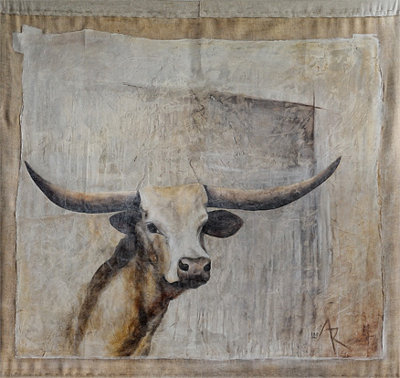 <h1>cattle</h1>oil on canvas | 140 x 120
