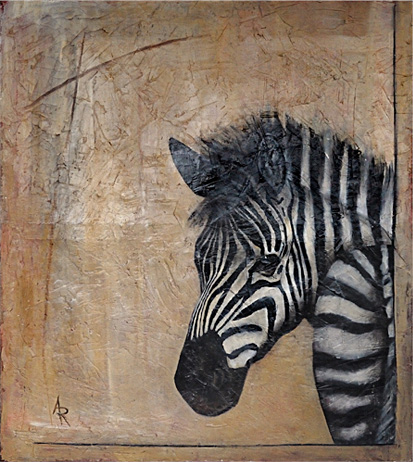 <h1>zebra</h1>oil on canvas | 170 x 140