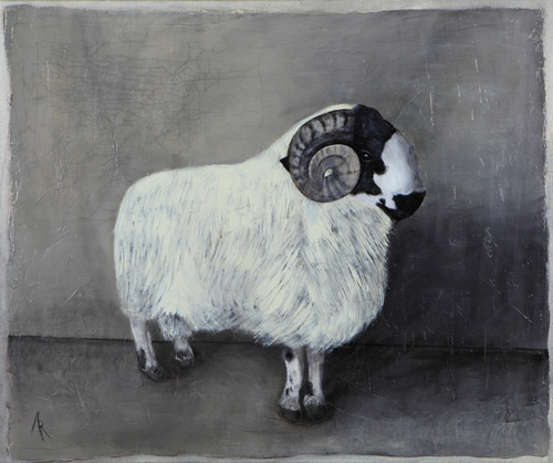 <h1>the ram</h1>oil on canvas | 130 x 110