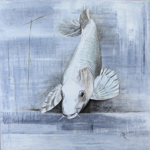 <h1>Koi</h1>oil on canvas | 120 x 120