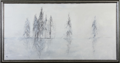 <h1>Sieglarer lake</h1>oil on canvas | 140 x 75