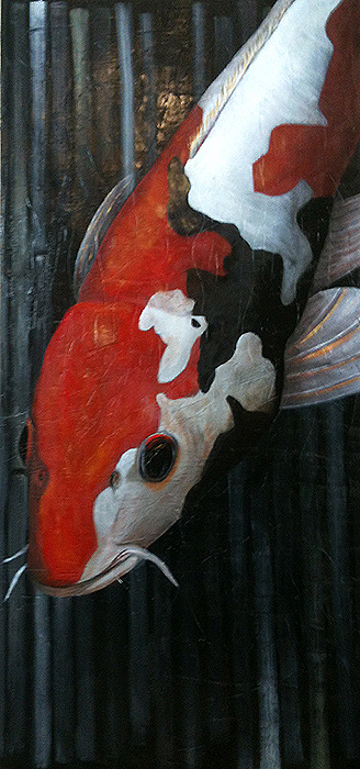 <h1>koi carp</h1> oil on canvas | 80 x 160